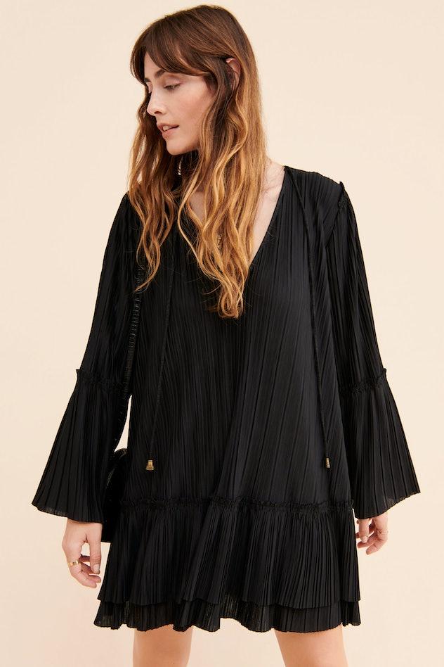 woman in black free people dress
