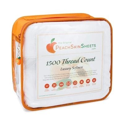PeachSkinSheets Moisture-Wicking Microfiber Sheets, 4-Piece Set