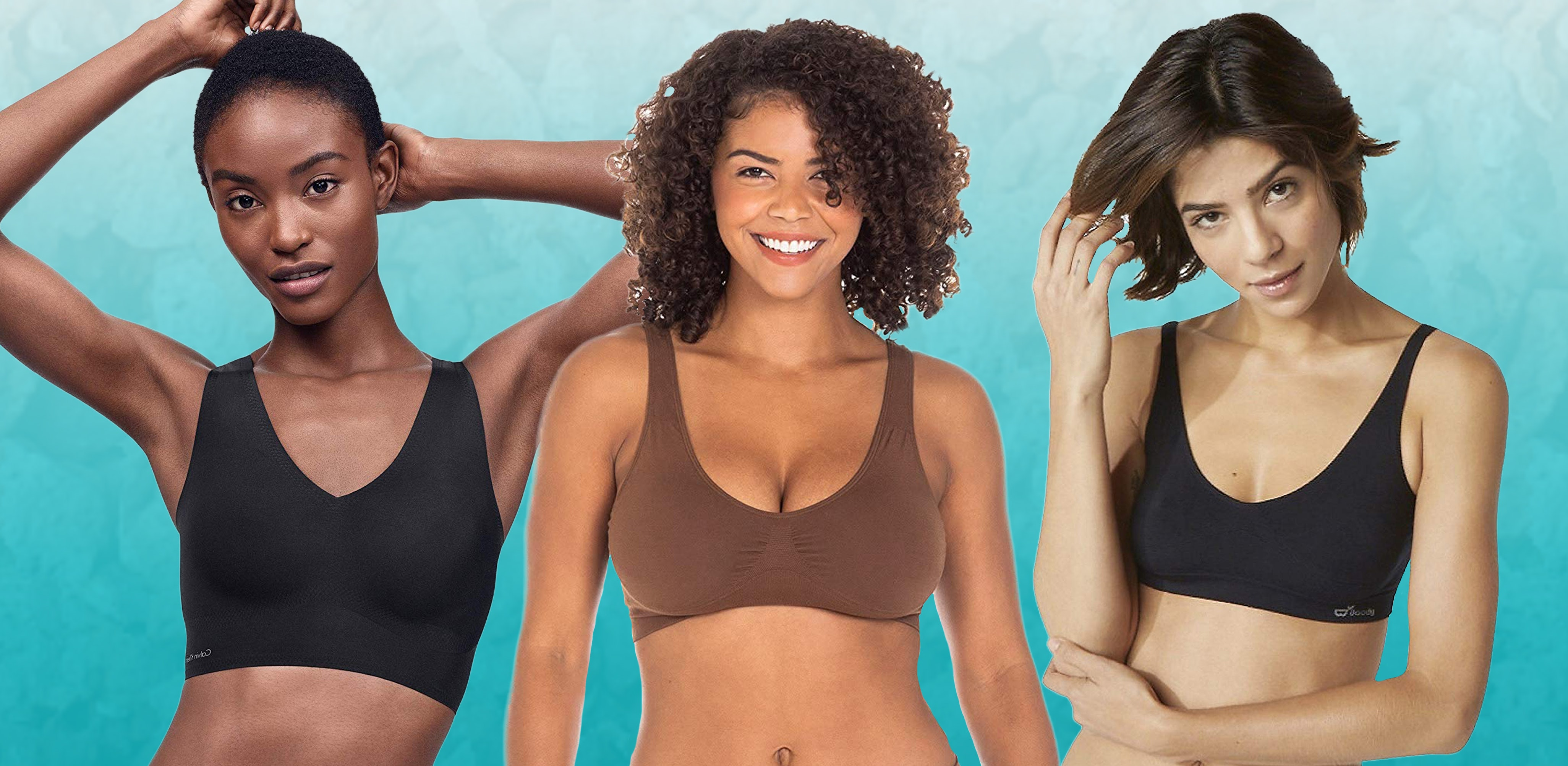 Large Seamless Bras 3 Pack Wire Free Stretch Soft Cup Comfort Flexi Crop Top