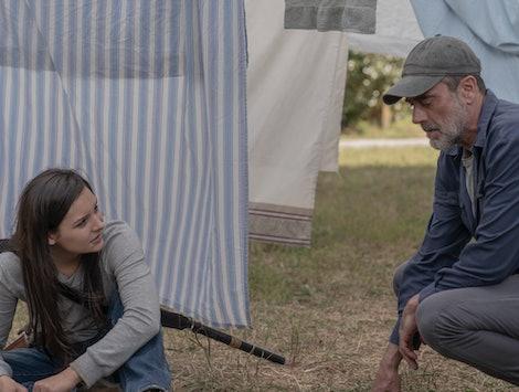 Cassady McClincy as Lydia and Jeffrey Dean Morgan as Negan on The Walking Dead Season 10, Episode 4