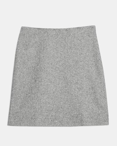 Speckled Wool Easy Waist Skirt