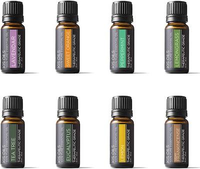 Kis Oils Pure Essential Oil Set of 8