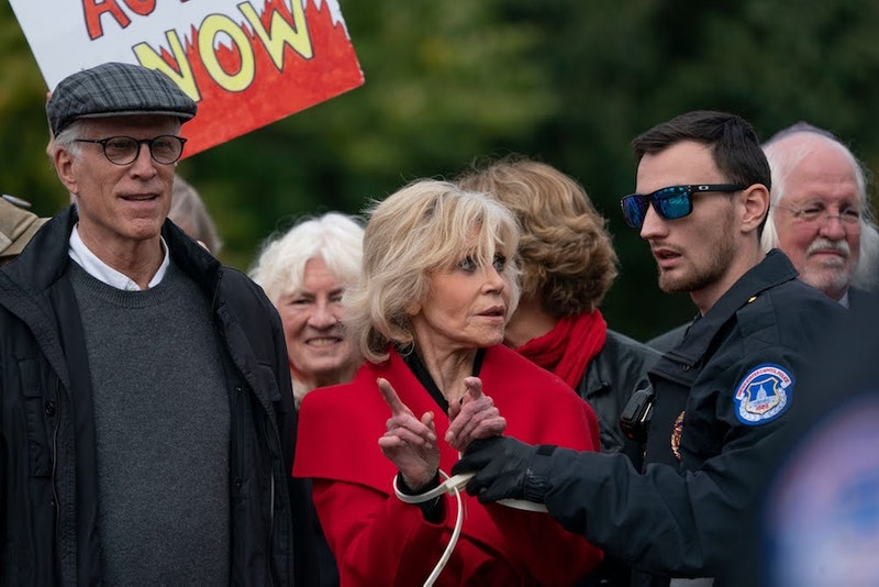 Ted Danson was arrested during a climate change protest with Jane Fonda