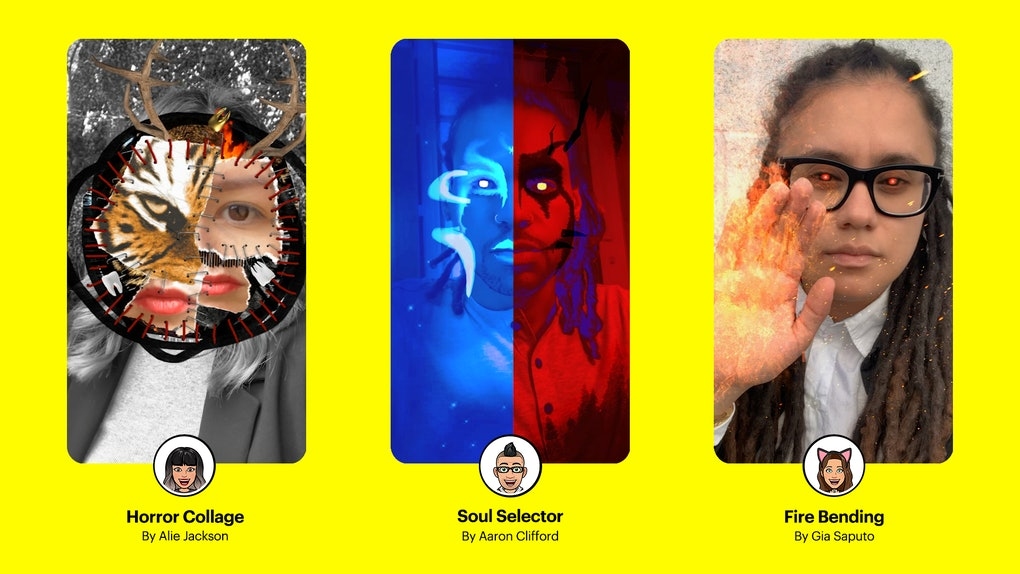 Snapchat's Halloween 2019 Lenses created by the Lens creator community are here in time for the spooky season.