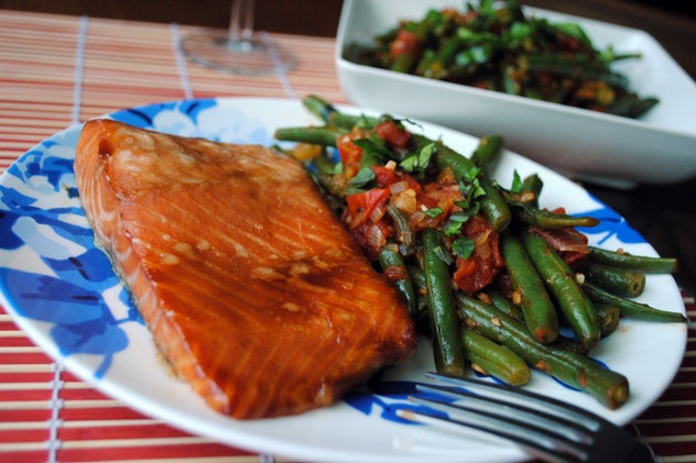 Teriyaki dijon glazed salmon from The Cocina Monologues is a fast, easy weeknight meal