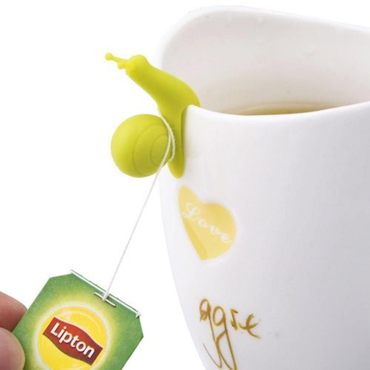 eBoot Cute Snail Shape Silicone Tea Bag Holder (10-Pack)