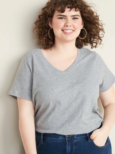 EveryWear Plus=Size V-Neck Tee
