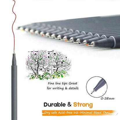 Fineliner Color Pen Set (18-Pack)