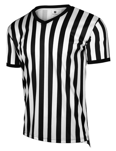 FitsT4 Men's Official Black & White Stripe Referee Shirt