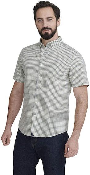 UNTUCKit Amontillado Men's Shirt Short Sleeve Dress Shirt
