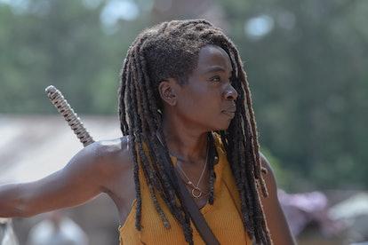 Danai Gurira as Michonne in The Walking Dead Season 10, Episode 4