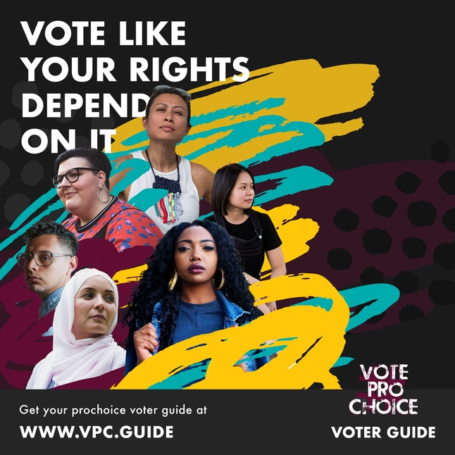 #VOTEPROCHOICE makes it easy to vote for pro-choice candidates in every election this November.