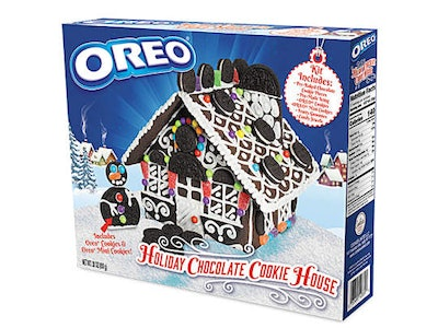 Oreo holiday cookie house kit
