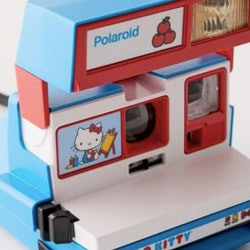 A Hello Kitty polaroid camera at Urban Outfitters.