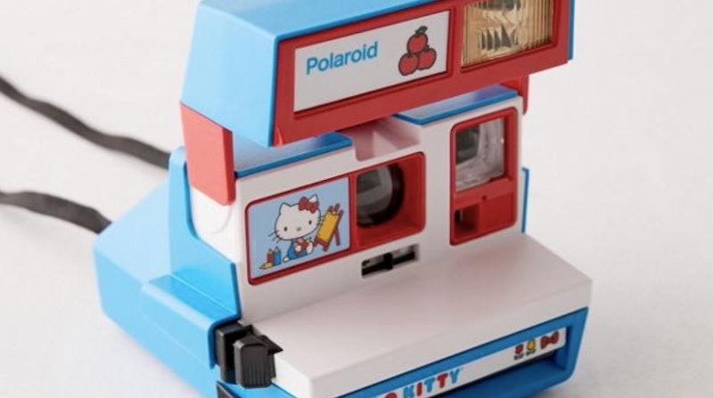 A Hello Kitty polaroid camera at Urban Outfitters.