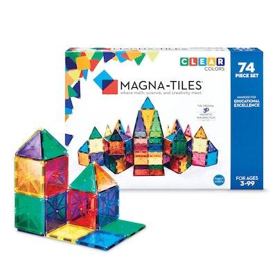 MAGNA-TILES Clear Colors 74pc Set
