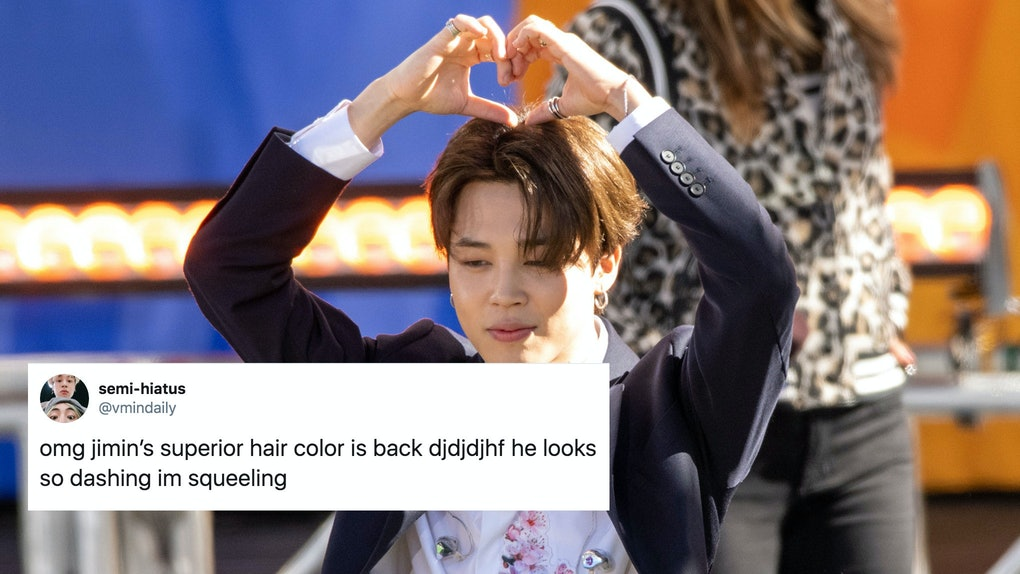 Jimin from BTS debuted silver hair at the group's concert.