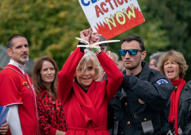 Jane Fonda accepted a BAFTA award while being arrested at a climate change protest