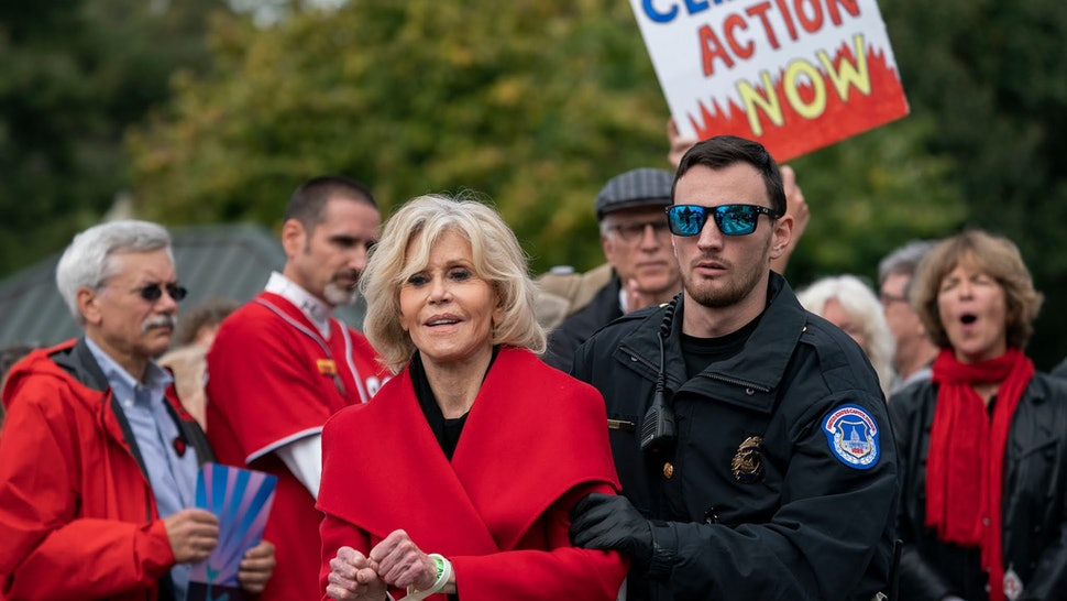 Jane Fonda was arrested on Friday, Oct. 25 at a climate change protest in Washington D.C.