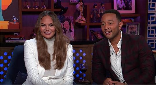 Chrissy Teigen and John Legend appear on Watch What Happens Live.