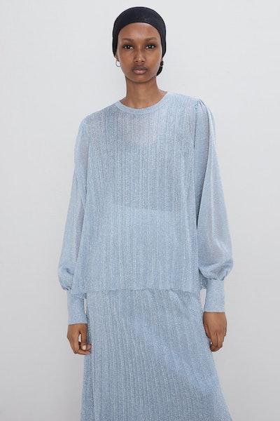 Shimmery Knit Blouse