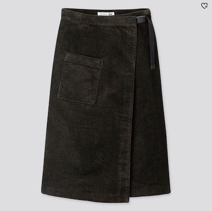 Corduroy Wrapped Skirt