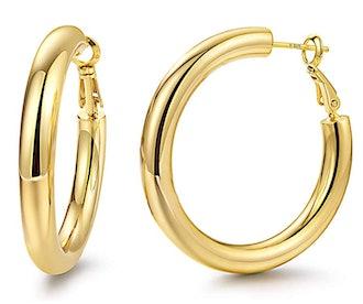 Yiba Hoop Earrings 18K Rose Gold Plated