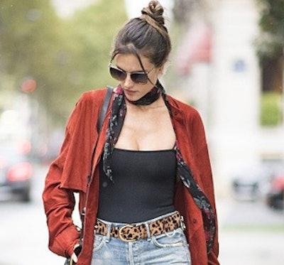 LOKLIK Leopard Print Leather Belt