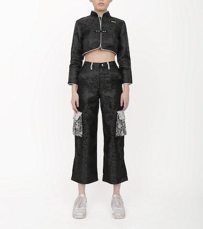 Side Pocket Silk Pants