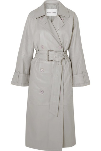 Shelby Leather Trench Coat