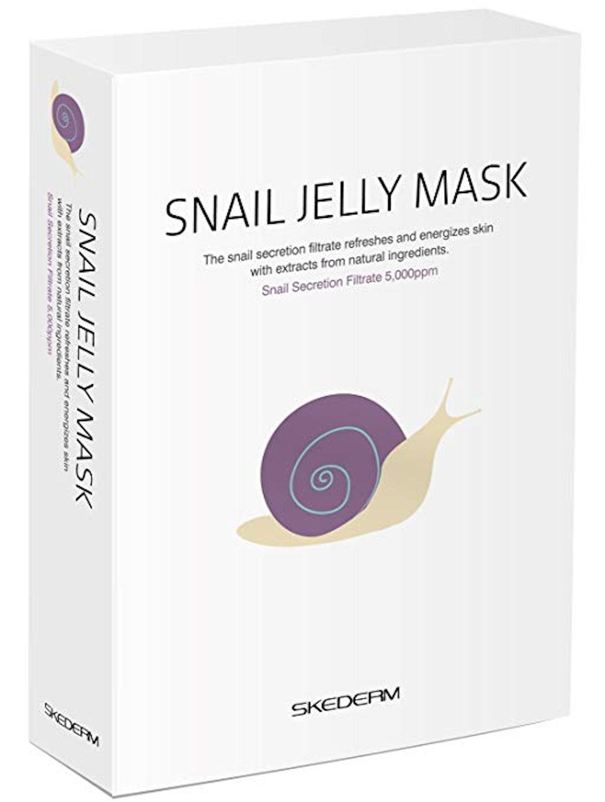 SKEDERM Snail Jelly Face Mask ( Pack of 10)