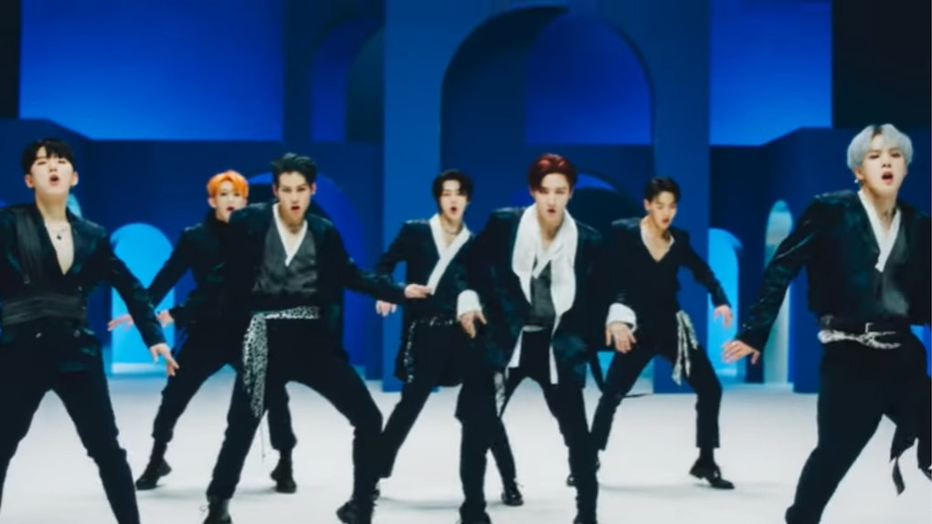 "Monsta X's ""Follow"" lyrics are visualized in the group's ""Follow"" music video"