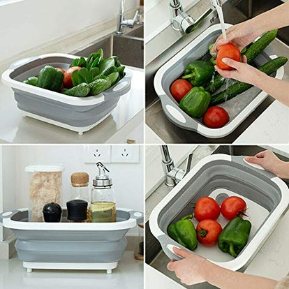 Collapsible Cutting Board with Dish Tub