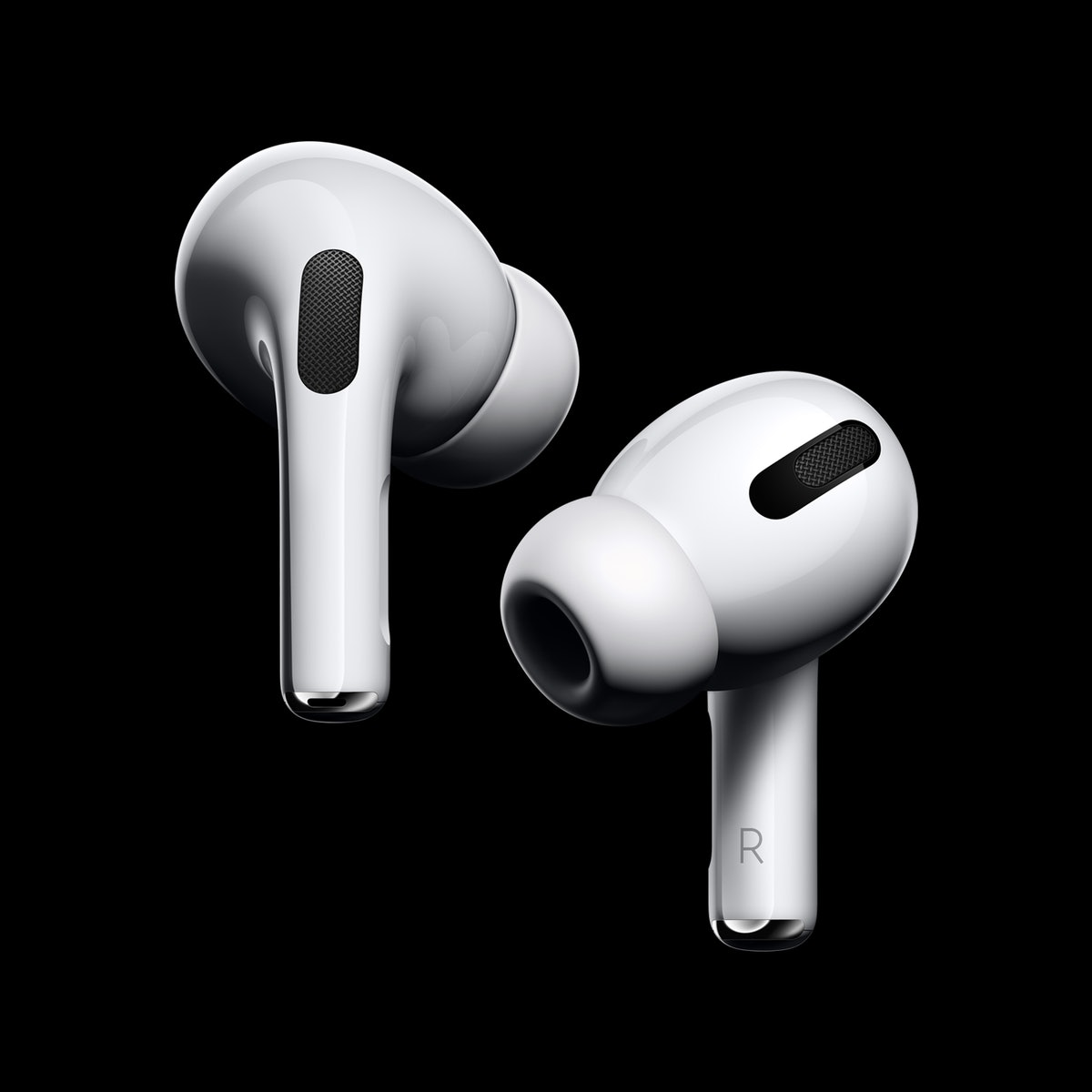 Apple's New AirPods Pro Headphones include a noise-cancelling feature.