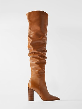 Over The Knee Heeled Leather Boots