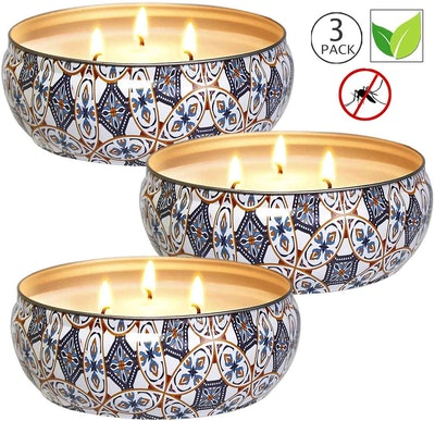 YIHANG Soy Wax Citronella Candles (Set of 3)