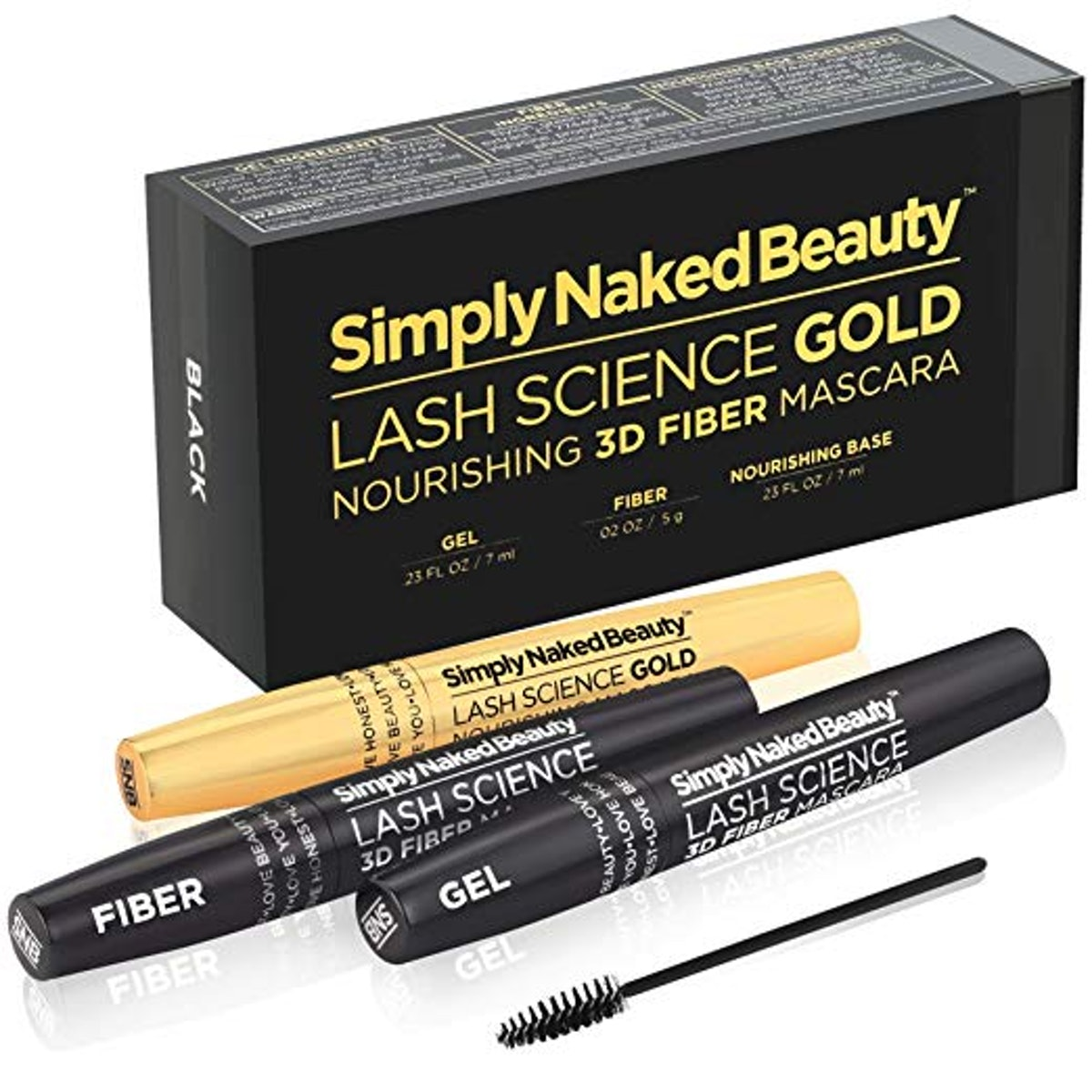 Simply Naked Beauty 3D Fiber Lash Mascara with Growth Enhancing Serum
