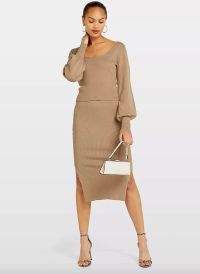 Camel Knitted Two Piece Co-Ord