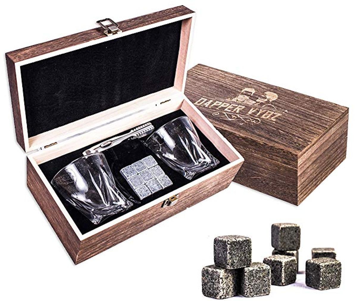 Dapper Vybz Whiskey Stones Gift Set