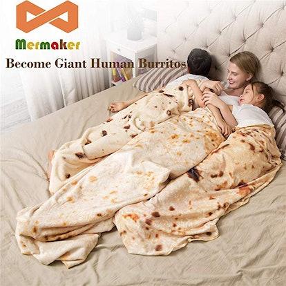 mermaker Burritos Blanket