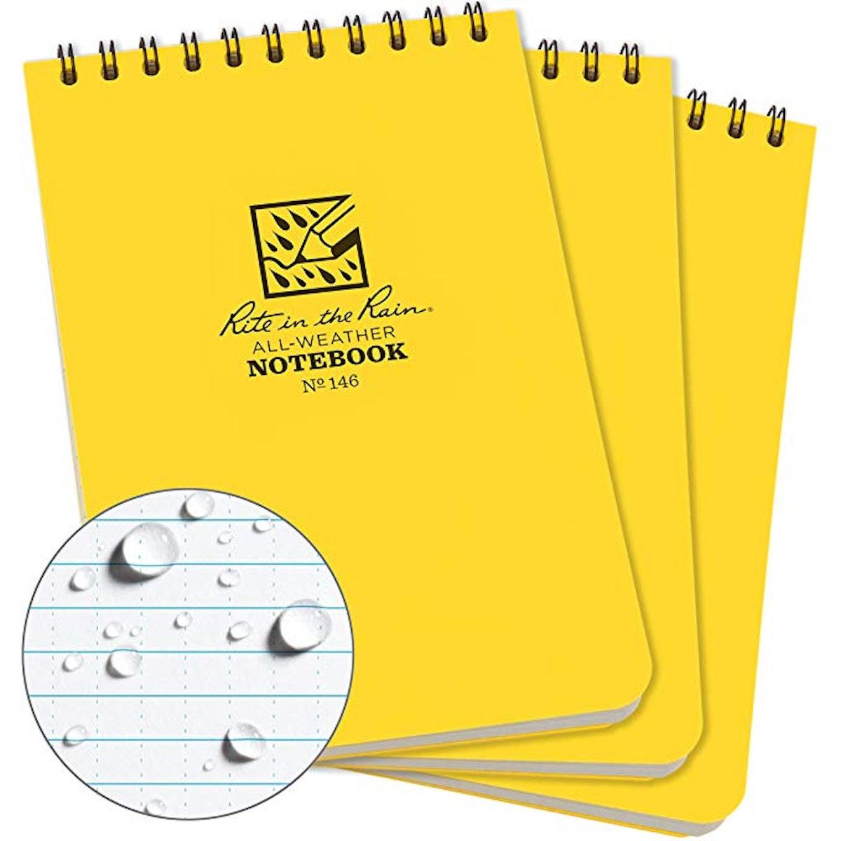 Rite in the Rain Weatherproof Top Spiral Notepad (3-Pack)