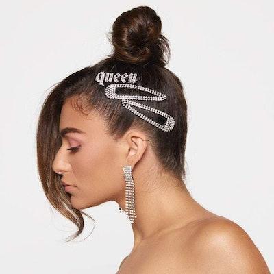 Kitsch x Justine Marjan Queen Rhinestone Bobby Pin
