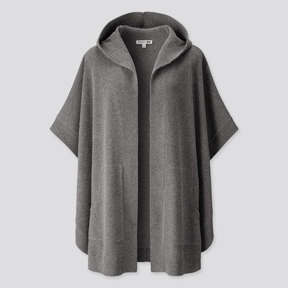 Lambswool-Blend Poncho