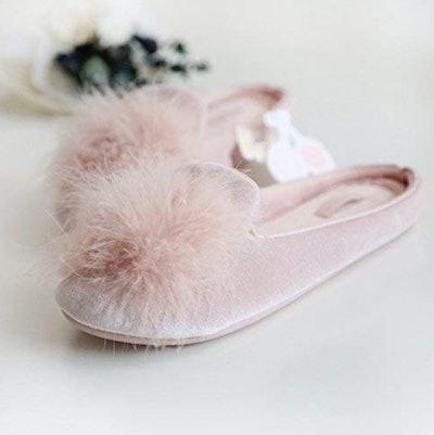 HALLUCI Velvet Memory Foam House Slippers