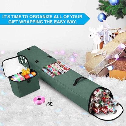Primode Hanging Gift Wrap Storage Bag