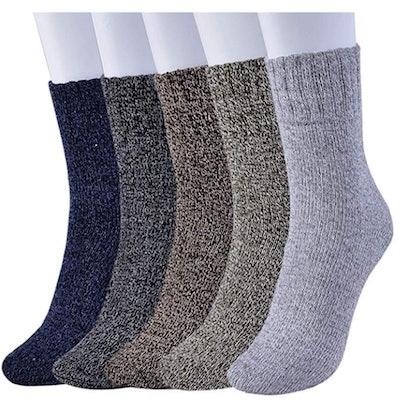 Feethit Womens Wool Socks (5 Pairs)