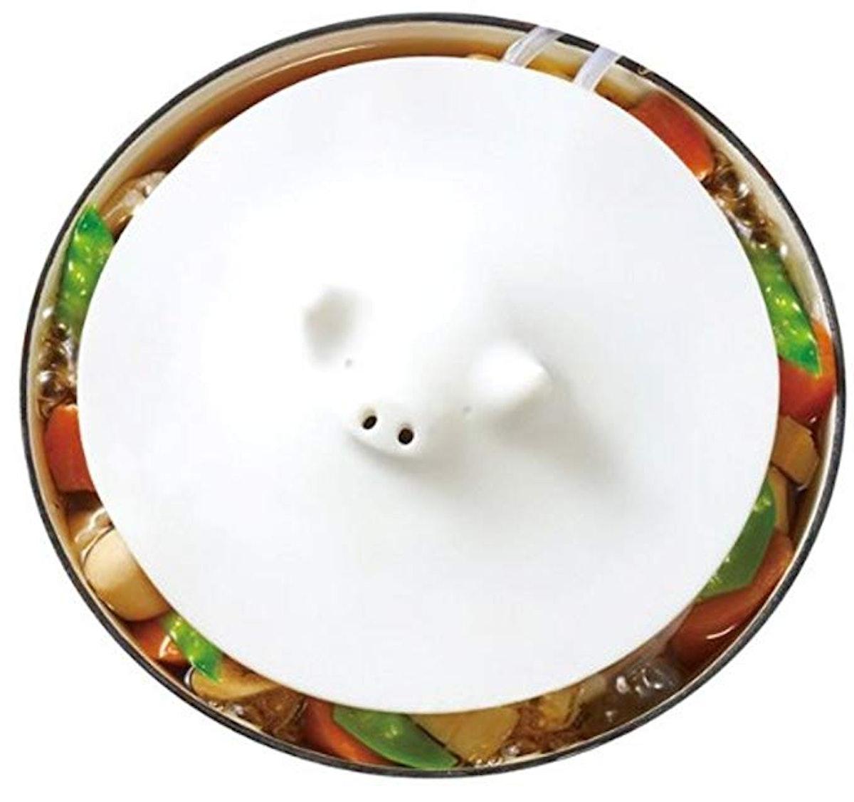 Marna White Piggy Steamer