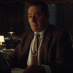 Robert De Niro as Frank Sheeran in The Irishman
