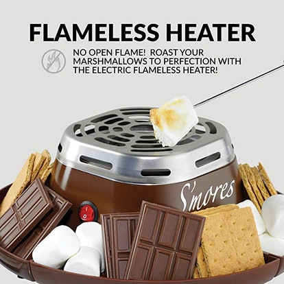 Nostalgia SMM200 Indoor Electric Stainless Steel S'mores Maker