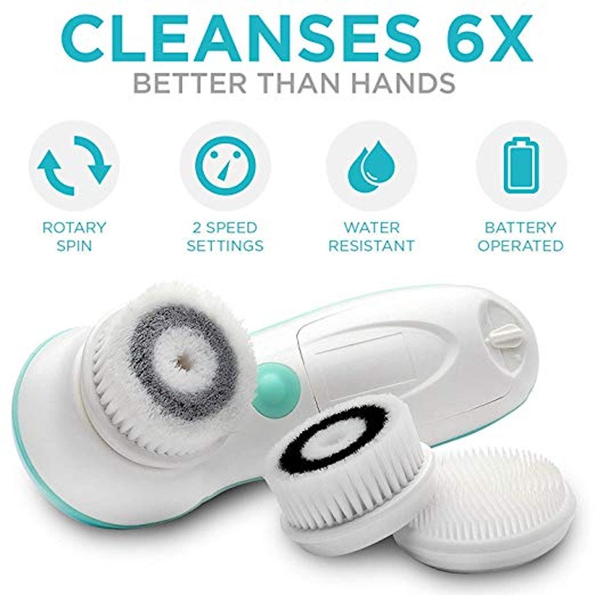 Fancii Waterproof Facial Cleansing  Brush Set